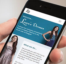 Laura's Dresses viewed on a mobile phone